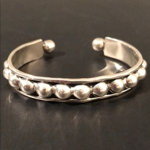 STERLING SILVER CUFF BRACELET MADE IN MEXICO NWOT